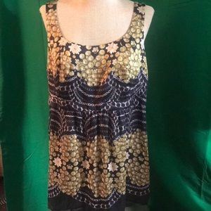 CAbi Pearls and Chains Sleeveless Camisole Size L